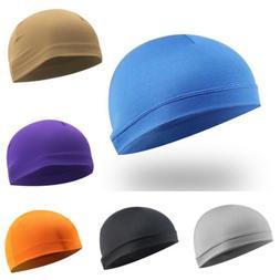 Men Moisture Sweat Wicking Cooling Dome Skull Cap Helmet Lin