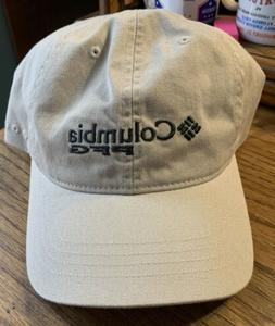 Columbia Men PFG Adjustable Hat O/S Khaki Tan ball cap fishi