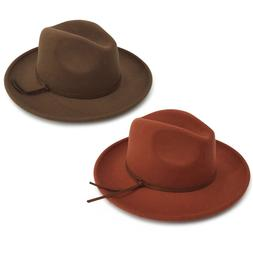 Men's & Women's Wide Brim Fedora Felt Berlin Hat With A Band