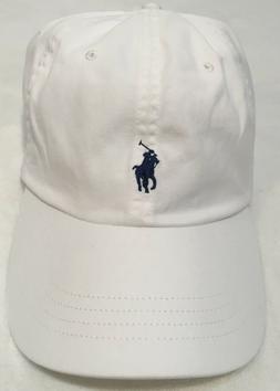 Polo Ralph Lauren Men's Big&Tall Chino Sports Cap White Blue