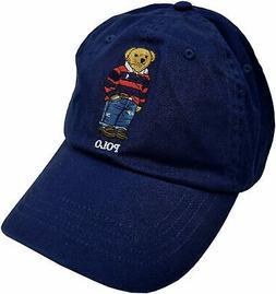 Polo Ralph Lauren Men's Rugby Bear Baseball Cap Dad Hat Blue