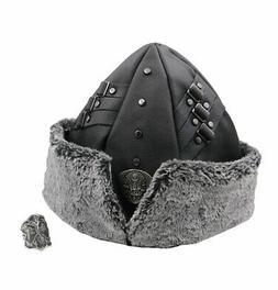Men's Silver Licensed Ertugrul Eagle Thumb Ring + Fur Bork H