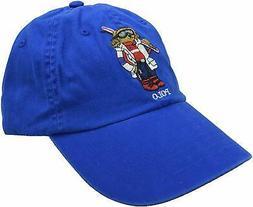 Polo Ralph Lauren Men's Ski Bear Baseball Cap Dad Hat Blue N