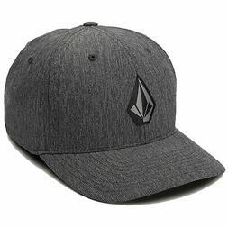 Volcom Men's Stone Tech Flexfit Hat Gray Headwear Accessorie