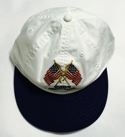 POLO RALPH LAUREN Men's USA Flag Hat Sport Baseball Cap Leat