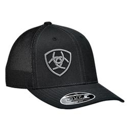 Ariat Mens Hat Baseball Cap Mesh Snapback Adjustable Black 1