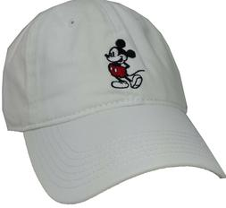 Disney Mickey Mouse White Adjustable Baseball Cap, Unisex