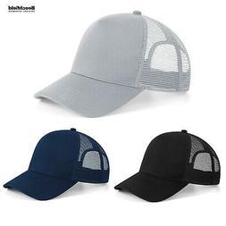 Beechfield Microknit Snapback Trucker Sun Baseball Hat