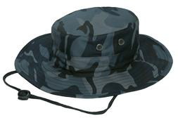 Military Style Booniehat Boonie Jungle Sun Hat Adjustable Bl