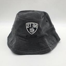 Mitchell & Ness Mens Team Bucket Cap Gray Corduroy Brooklyn