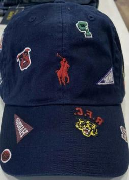 Polo Ralph Lauren Multi Logo Patch Cap Hat P-wing Stadium Ti