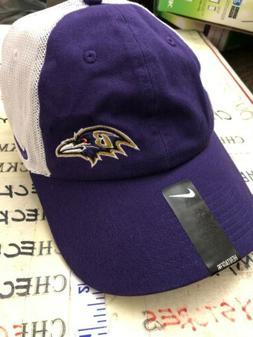 NEW NIKE 840462 566 WOMEN'S Baltimore Ravens HAT OSFM ADJ RE