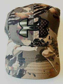 Under Armour New Camo Big Flag Logo Snapback Cap Hat Men's O