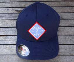 NEW SALTY CREW CREW TIPPET STAMPED NAVY MENS SPORT FLEX FITH