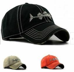 New Fish Skeleton Hat Fishing Baseball Cap Trucker Hats For