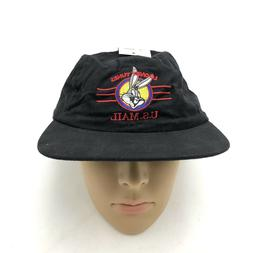 NEW Looney Tunes Hat US Mail Bugs Bunny Black Stamps VTG 90s