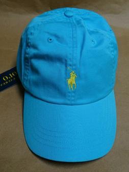 NEW POLO RALPH LAUREN Men's Blue Baseball Cap Classic Hat Ye