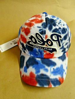 NEW Polo Ralph Lauren Tie Dye Cotton Twill Cap Baseball Hat