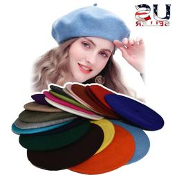 New Warm French Style Lightweight Casual Classic Beanie Soli