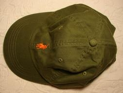 NWT Army Green Baseball Cap from Polo Ralph Lauren, One Size