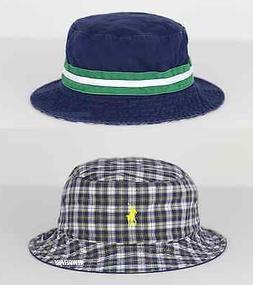 NWT POLO RALPH LAUREN Pony Beachside Bucket Hat Navy/Checks