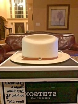 """STETSON """"OPEN ROAD"""" 30X NATURAL 7 3/8 PANAMA WESTERN!"""