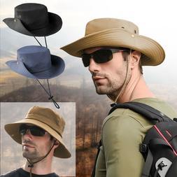 Outdoor Sun Visor Hat UV Protection Cap Fishing Cowboy Wide