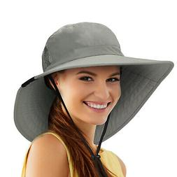 Wide Brim Sun Hats for Women UV Protection Fishing Cap UPF 5
