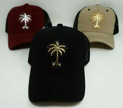 PALM TREE Snapback Cap Mesh Trucker Hat Curved Visor OSFM Ad
