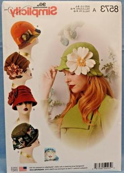 SIMPLICITY PATTERN 8573  HATS  FLOWERS MISSES SIZES SMALL ME