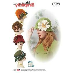 """Simplicity Pattern 8573 Misses Hats in 3 Sizes 21"""", 22"""" & 23"""