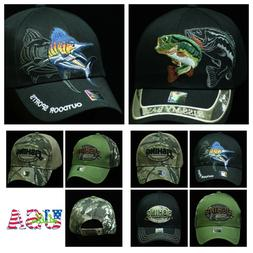 Plain Baseball Cap Snapback Fashion Hat Adjustable Hats Fish