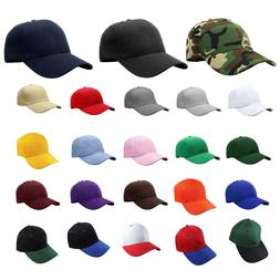 Plain Blank Solid Adjustable Baseball Cap Hats