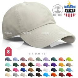 Polo Style Cotton Baseball Cap Ball Dad Hat Adjustable Plain