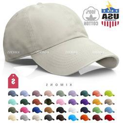 Polo Style Cotton Baseball Cap Ball Dad Hat Adjustable Plain