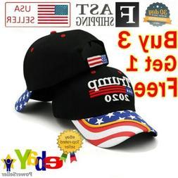 President  Donald Trump 2020 Hat Black USA Flag Make America