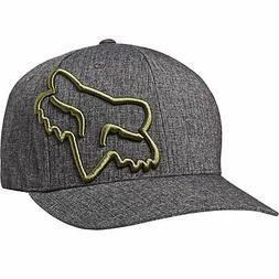 Fox Racing Men's Clouded Flexfit Hat Heather Black Headwear