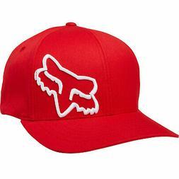 Fox Racing Men's Flex 45 Flexfit Hat Red Headwear Accessorie