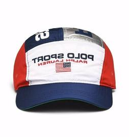 Polo Sport Ralph Lauren 5 Panel Hat Cap LE USA Flag Silver N