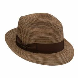 Stetson Regatta Cotton Braid Fedora Hat - Brown