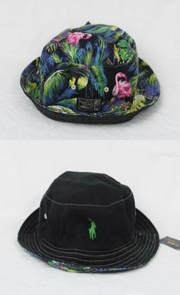 Polo Ralph Lauren Reversible Bucket Cap Flamingo Black Green