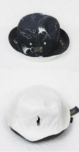 Polo Ralph Lauren Reversible Bucket Cap Marlin Black White H