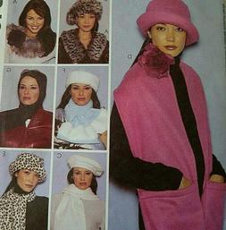 McCall's 3400 Fashion Accessories  WOMEN'S WINTER HATS  scar