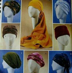 McCall's 4116 Fashion Accessories  WOMEN'S HATS TURBANS HEAD