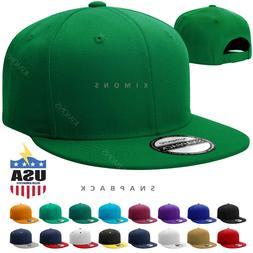Snapback Hat Flat Baseball Cap Trucker Solid Plain Blank Men