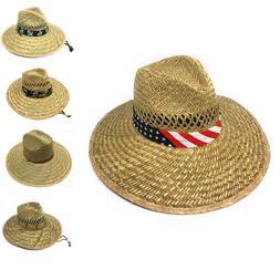 Stylish Straw Hats Caps Lifeguard Sombrero Postal Sun Beach