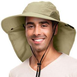 Sun Hat for Men UV Sun Protection Wide Brim Safari Hiking Ca