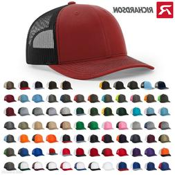 Richardson Trucker Hat Adjustable Ball Cap Mesh on Back Snap