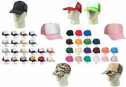 Trucker Hat Baseball Cap Mesh Retro Caps Blank Plain Hats OR