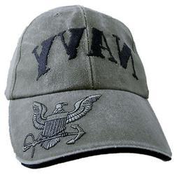 U.S. NAVY Hat / USN Rubber Stamped Logo Baseball Cap